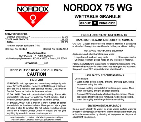 Brandt, Nordox 75 WG, plant protection, copper hydroxide, Fungicide, bacteriacide, nutrient