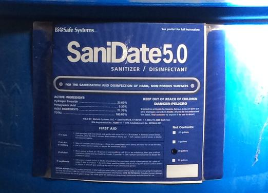 Biosafe Systems, SaniDate 5.0, H2O2 Based Sanitizer, Disinfectant
