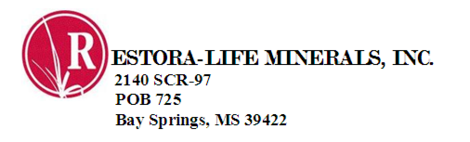 Restora-Life Minerals, MRX, livestock feed and supplement, clay based, trace mineral