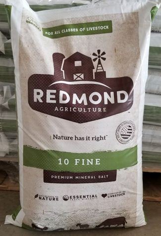 Redmond Fine Salt #10, Redmond Agriculture 10 Fine Premium Mineral Salt, Redmond Minerals, Natural Trace Salt, livestock feed and supplement, unrefined
