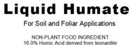 JC Smith Co, Liquid Humate 16% Humic Acid, soil treatment