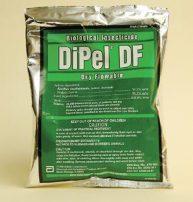 Valent, Dipel DF, dry flowable, biological insecticide, (Bt) Bacillus thuringiensis, kurstaki; ABTS, 351 strain
