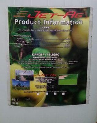 Jet-Ag, Jet Harvest,, Peroxyacetic Acid Agricultural Sanitizer