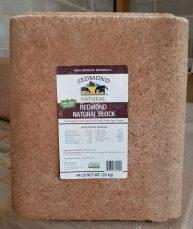 Redmond Natural Block, Redmond Minerals, Natural Salt block, livestock feed and supplement, unrefined trace minerals