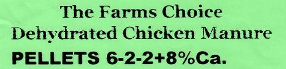 Hickman's Egg Ranch, The Farm's Choice 6-2-2, Deydrated Chicken Manure