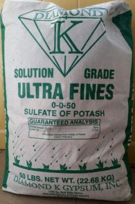 Diamond K, Sulfate of Potash, 0-0-50, ultra fines